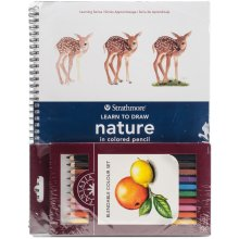 Learn To Draw Nature In Colored Pencil Set-