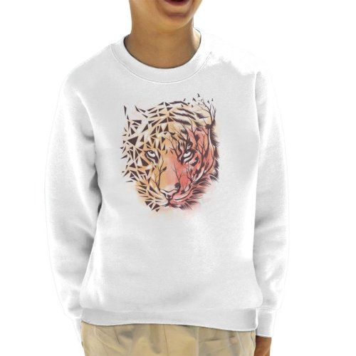 Geometric Tiger Kid's Sweatshirt