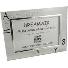 Personalised 8th Wedding Anniversary Photo Frame Bronze Anniversary (landscape)