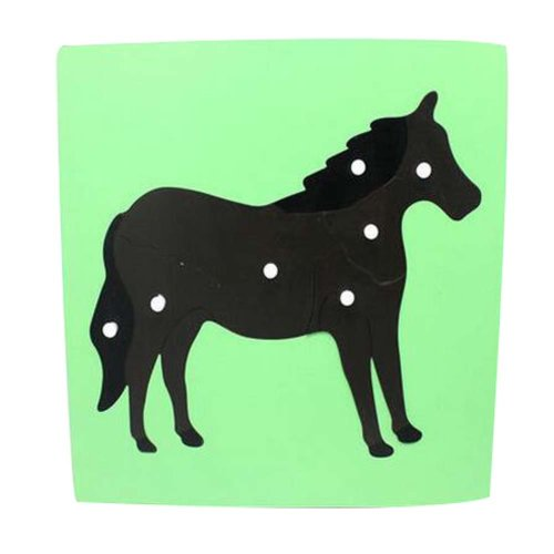 Horse, Wooden Jigsaw Puzzle Lovely Puzzle Game Children's Toys For 3-6 Years Old