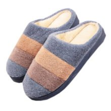Mens Warm & Cozy  Indoor Plush House Slipper, Blue