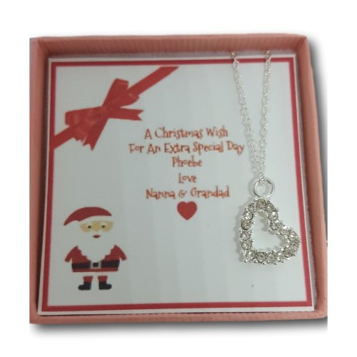 Girl's Personalised Christmas Stocking Filler Necklace Gift Present