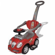 Red Children's Ride-on Car with Push Bar