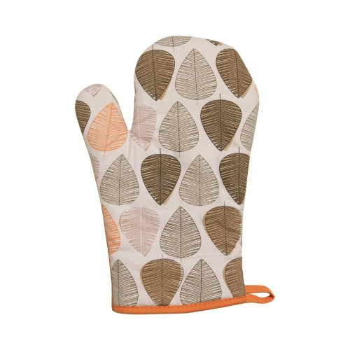 Orange Leaf Single Oven Glove