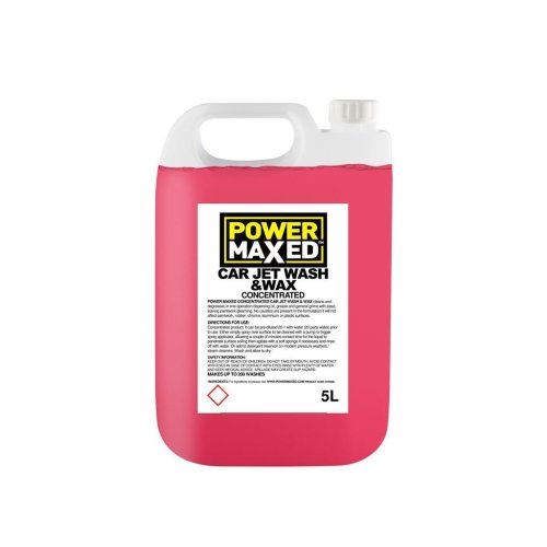 Power Maxed Jet Wash And Wax 5.0Ltr Concentrate