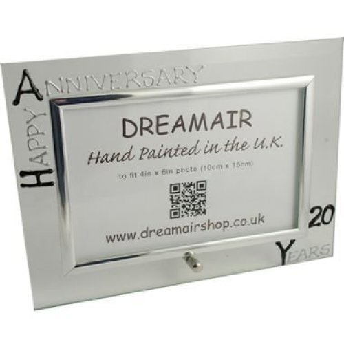 Personalised 20th Wedding Anniversary Photo Frame China Anniversary (landscape)