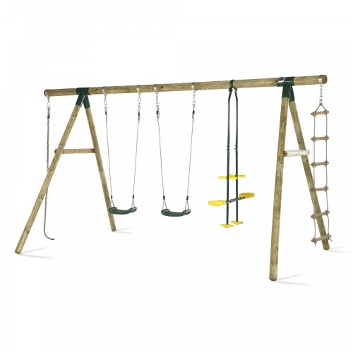 Plum OrangUtan Wooden Garden Swing Set