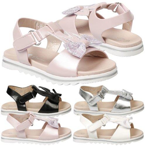 Eva Girls Kids Toddler Baby Glitter Bow T Bar Sandals Summer Bunny Ear Shoes