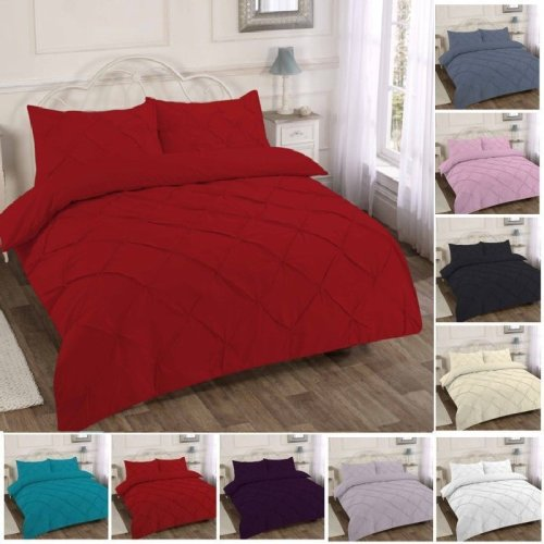 Diamond Pintuk Premium Duvet Quilt Cover Ruffle Bedding Set