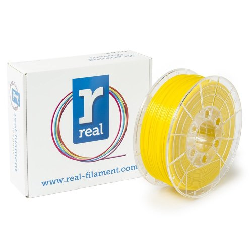 Real Filament 8719128329666 Real PETG, Spool of 1 kg, 1.75 mm, Opaque Yellow