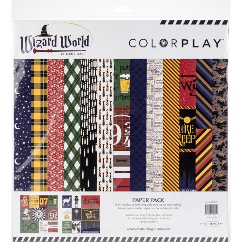 "ColorPlay Collection Pack 12""X12""-Wizard World, 6 Designs/2 Each + Bonus"