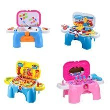 deAO Role Play Stool Carrycase Toys -Doctor/ Handy man /Dressing Table/ Writing Desk