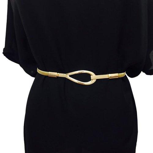 Available New Fashion Brand Luxury Metal Belt For Women Ms Elastic Waist Chains Female Wide Dress Metal Belt Ceinture Femme
