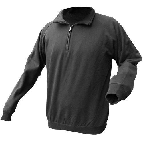 Click CLQZSSBL3XL Quarter Zip Polo Fleece Black 3XL