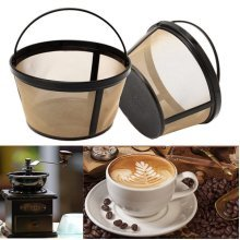 Coffee Strainer Basket Permanent Durable Coffee Filter 10-12 Cup Coffeemakers Kitchen Cafe Tool