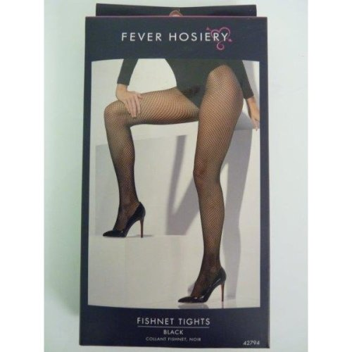 Ladies Black Fishnet Tights -  fishnet tights black fancy dress ladies accessory smiffys costume hosiery sexy
