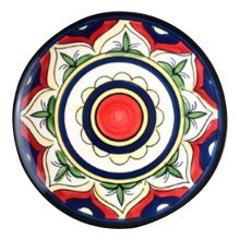2 Pcs Flower Pattern Hand-painted Ceramic Dessert Plate Pastry Tray
