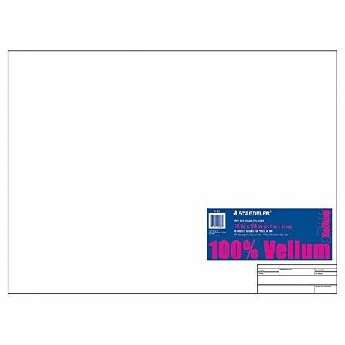 StaedtlerR Vellum Paper With Title Block and Border 18in x 24in White Pad Of 10 Sheets