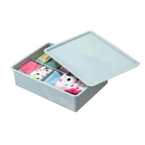 Useful Home Drawer Storage Box with Lid 10 Grids Underwear Storage Method