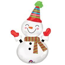 Smiley Snowman SuperShape Foil Balloons