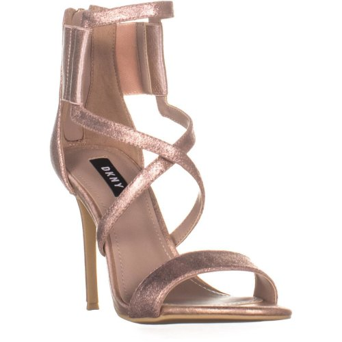 DKNY Lil Studs Zip Up Strappy Sandals , Rose Gold, 5 UK