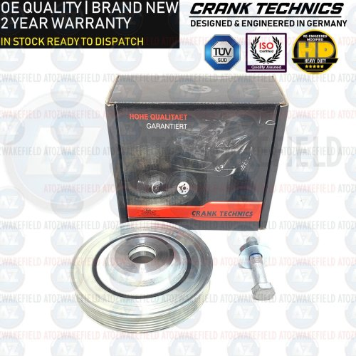For Ford Focus Galaxy C-Max S-Max Mondeo MK4 Kuga 2.0 TDCI Crank Shaft Pulley