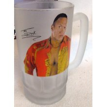 THE ROCK WWF (WWE) FROSTED PINT GLASS