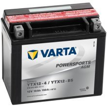 Varta Motorcycle Battery Powersports AGM YTX12-4/YTX12-BS
