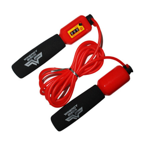 Jump Rope for Exercise,Rubber Speed Rope 3M Count Rope Skipping Red
