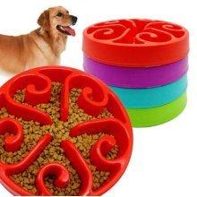Pet Dog Cat Interactive Slow Food Bowl Healthy Non Slip Gulp Feeder Bloat Dish