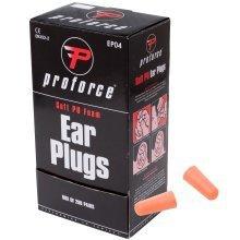 Proforce EP04 Soft Foam Ear Plugs SNR 37dB Earplugs Defenders Box of 200 Pairs