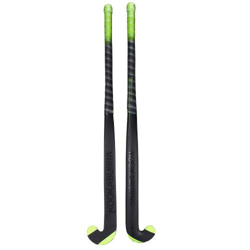 Kookaburra 2018 Team Phantom L-Bow 1.0 Field Hockey Stick Black/Green