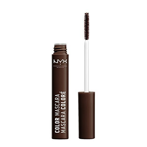 NYX Professional Makeup Color Mascara, Brown, 0.32 Ounce