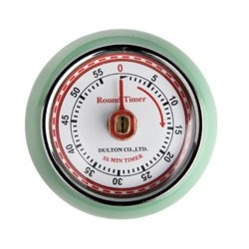 Mint Green Retro Magnetic Timer - Eddingtons Kitchen 5 Colours Style 55 -  eddingtons retro magnetic timer kitchen mint green 5 colours style 55