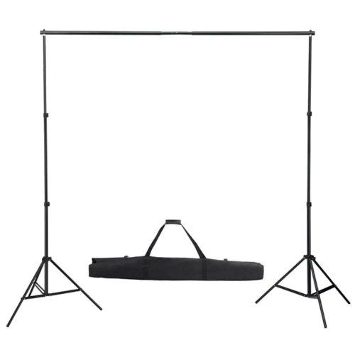 vidaXL Telescopic Background System 155-300cm Studio Backdrop Support Stand