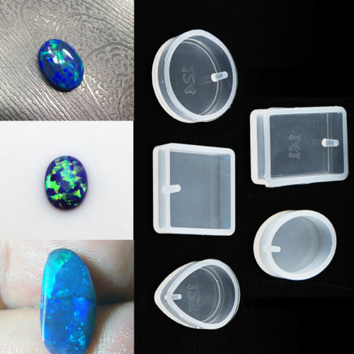 5X Silicone Pendant Mold Making Jewelry For Resin Necklace Mould Craft DIY Tool