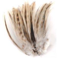 Strung Badger Feathers-Natural