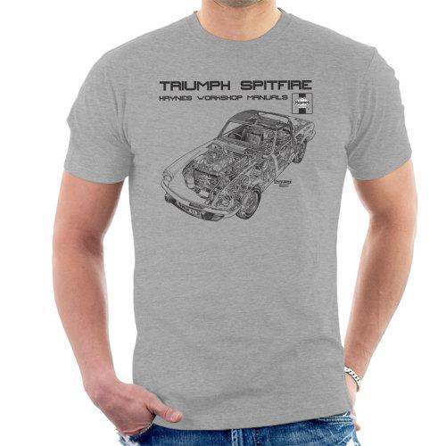 Haynes Owners Workshop Manual 0113 Triumph Spitfire Black Men's T-Shirt