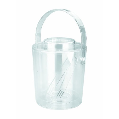 Lacor-62363-ACRYLIC D.WALL ICE BUCKET 3 LTS.LID+TONG