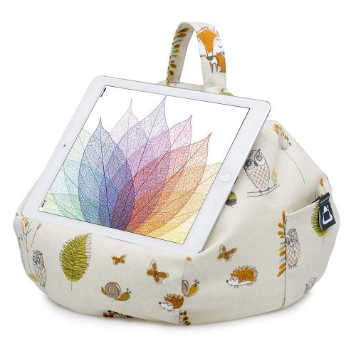 iBeani iPad & Tablet Stand/Bean Bag Cushion Holder for All Devices/Any Angle on Any Surface - Woodland Scene