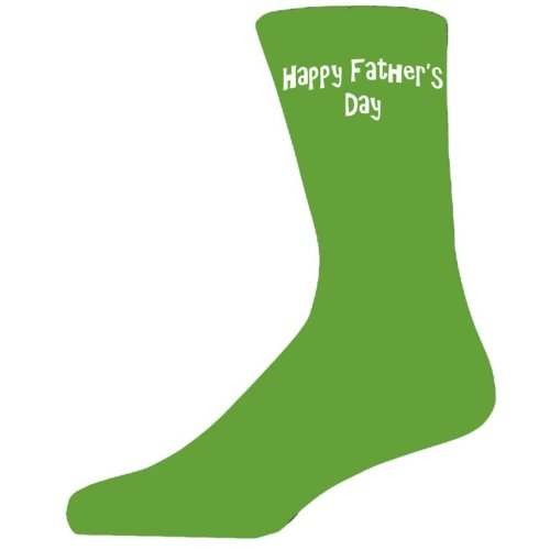 Happy Fathers Day on Green Socks, Lovely Fathers Day Gift
