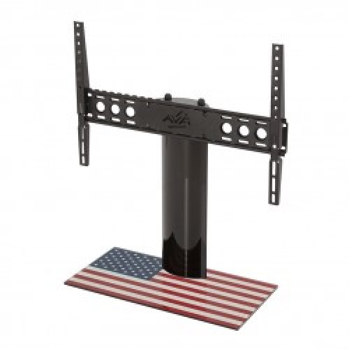 "King Table Top Base Pedestal Stand with Universal Bracket and Stars & Stripes United States of America USA Flag by TV Furniture Direct (12"" - 65"")"