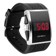 DIGIFLEX Luxury Digital Mens Red LED Wrist Watch