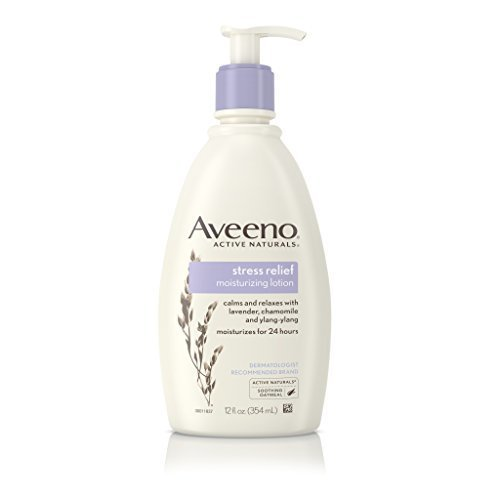 AVEENO Active Naturals Stress Relief Moisturizing Lotion 12 oz (Pack of 5)