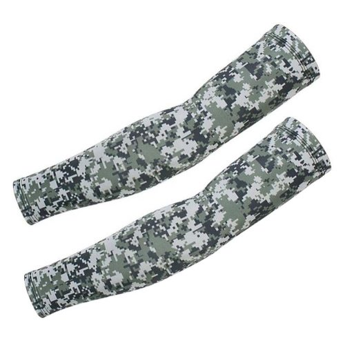 Camouflage Ice Silk Sleeves,Sun Protection,Riding,Fishing,Arm Guard,A06