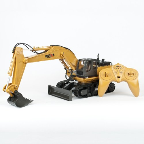 Remote Control Digger Truck 11Ch Toy RC Excavator Radio Controlled Construction