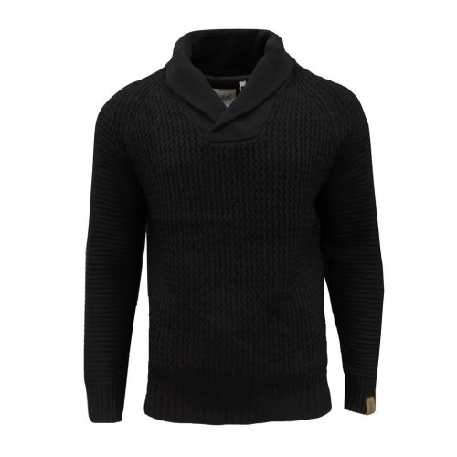 Soul Star Men's Tugger Shawl Neck Knitted Jumper