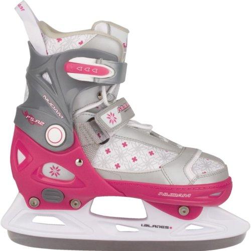 Nijdam Girl Kids Ice Figure Skates Boots with Blades Size 33-36 3121-FZW-33-36