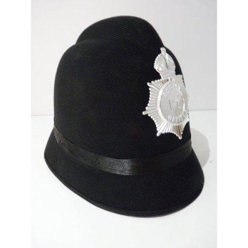 9a131d42dc7323 Mens Felt Police Hat With Badge - hat police smiffys fancy dress badge  black felt mens helmet on OnBuy
