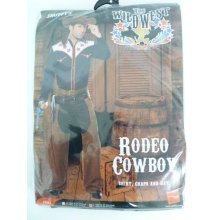 Large Blue Men's Rodeo Cowboy Costume -  cowboy costume rodeo mens outfit wild fancy dress western adult adults